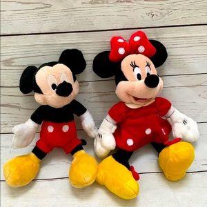 Disney Mickey & Minnie plushes